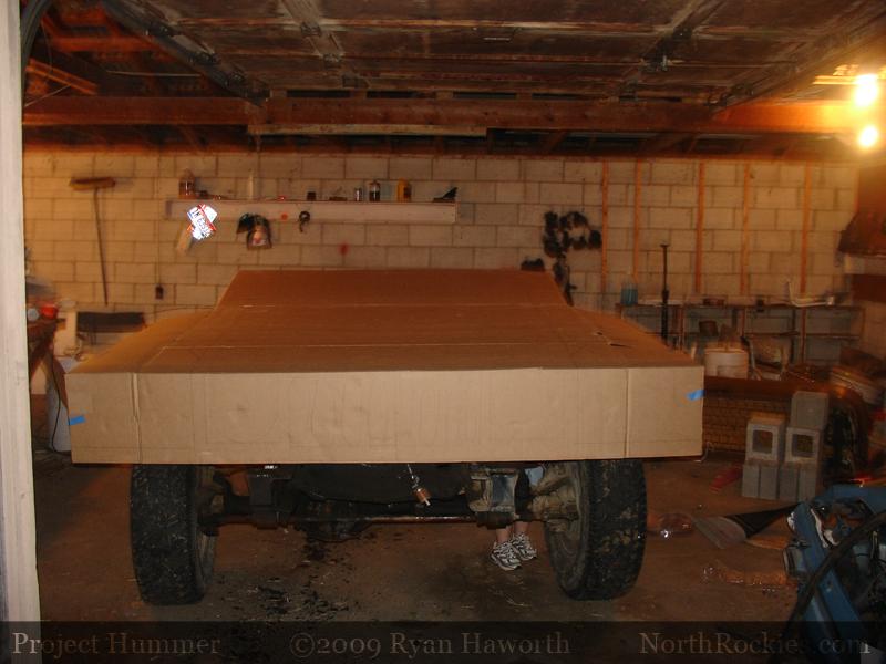 Testing the hood base