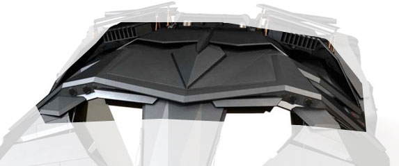 The Tumbler roof above the cockpit